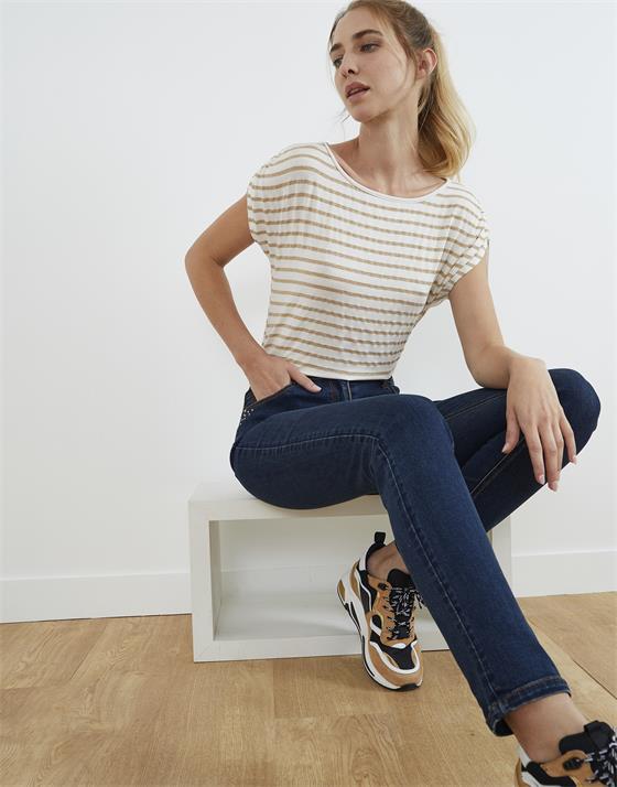 T-Shirt longueur standard brillant