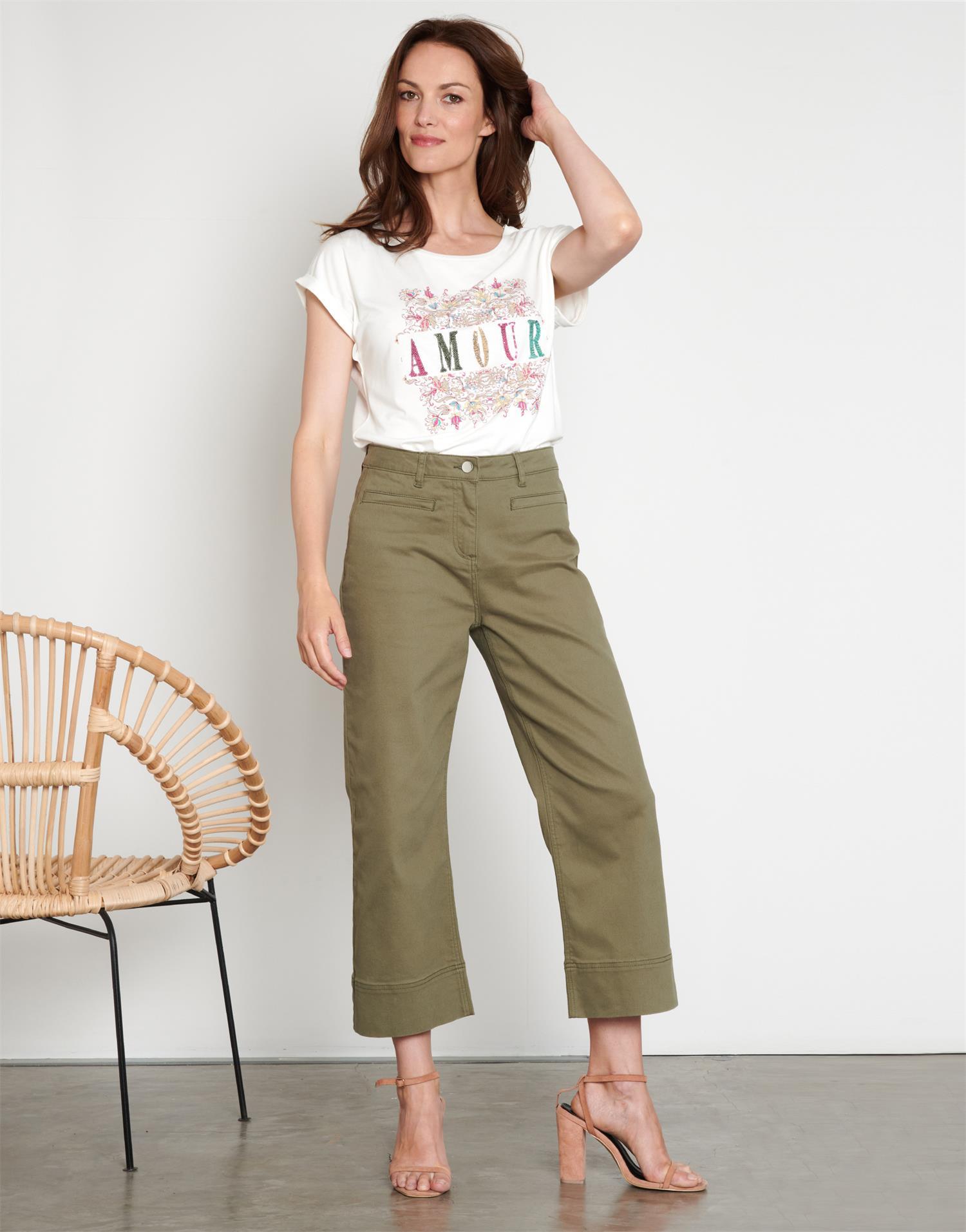 Pantalon cropped  uni