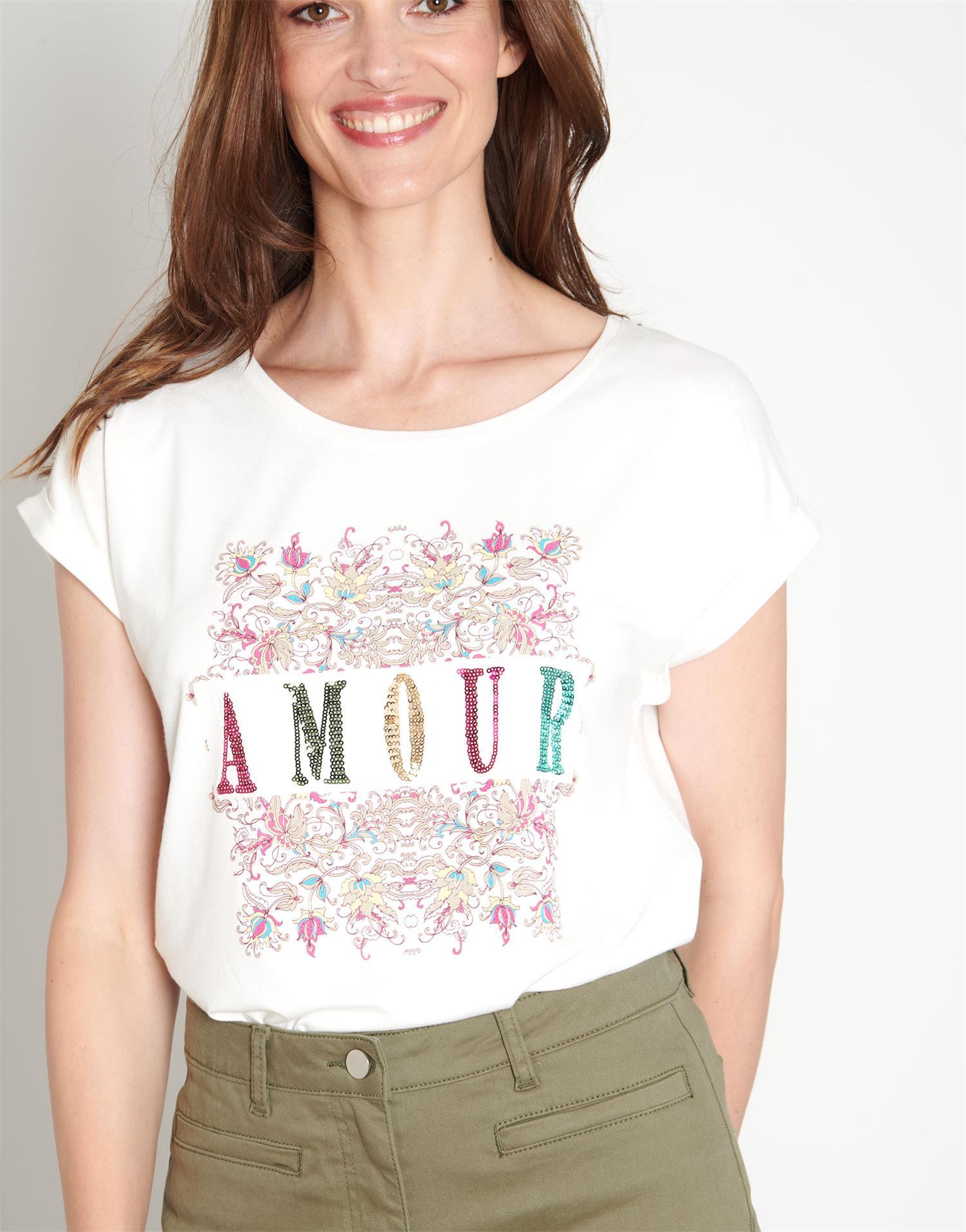 T-Shirt longueur standard  imprimée