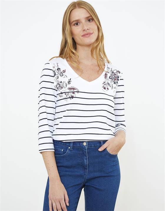 T-Shirt longueur standard  rayé