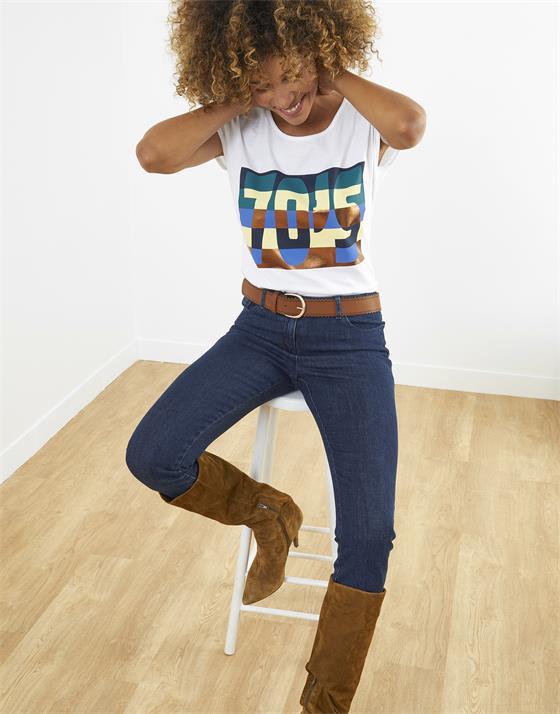 T-Shirt longueur standard  Imprimé placé
