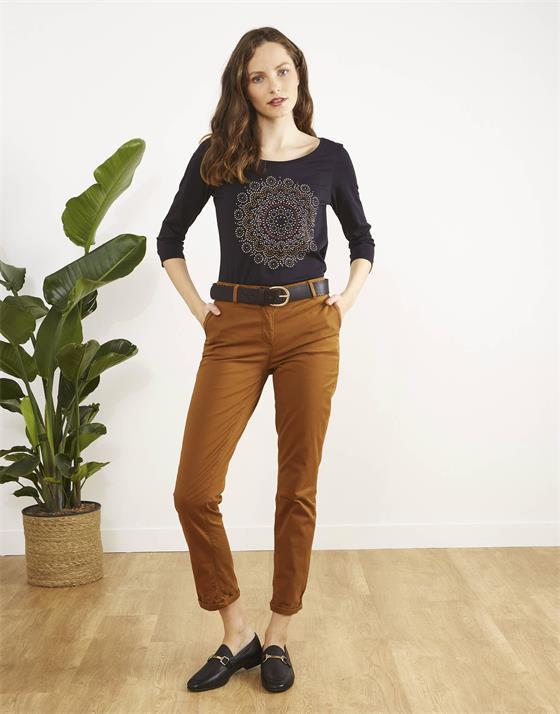 T-Shirt longueur standard  à motifs